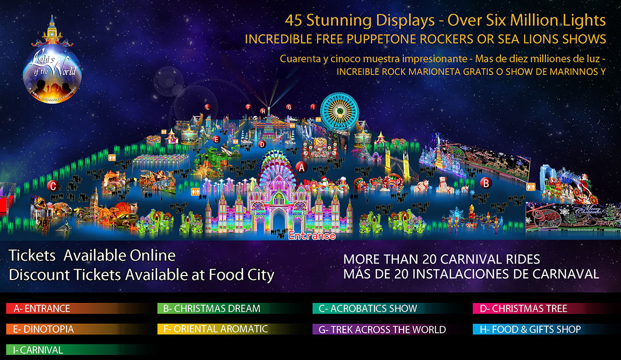 Lights of the World Tucson Map 2019